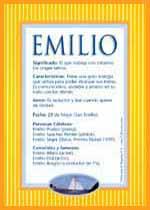 Nombre Emilio Nombres De Bebes Significados De Los Nombres Tarjetas Con Nombres