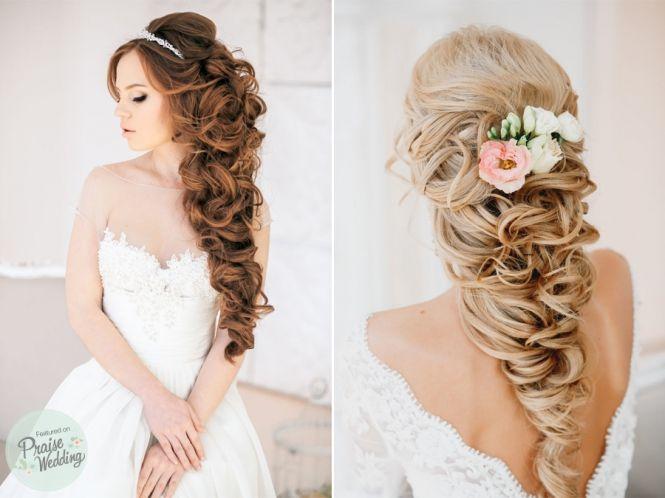 23 Romantic Wedding Hairstyles For Long Hair: Romantic Princess-style Bridal Curls
