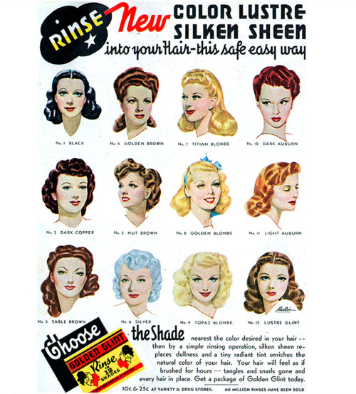 Colour Lustre Check Out Second From The Left Bottom Row X Retro Hairstyles Vintage Hairstyles 1940s Hairstyles