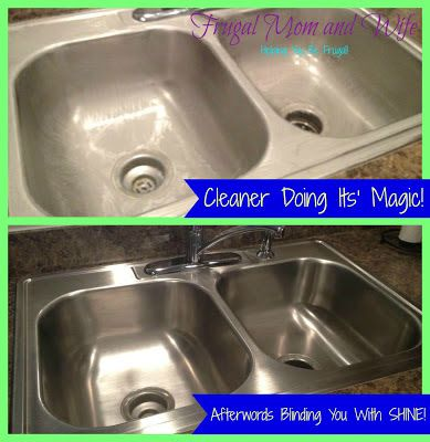 Merveilleux Frugal Mom And Wife: DIY Frugal All Natural Stainless Steel Sink Cleaner +  Shiner!