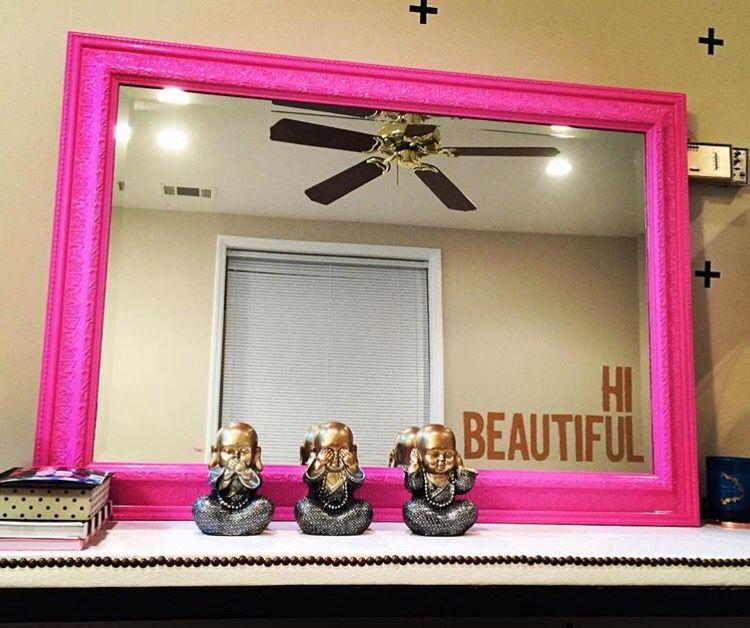 """Hi Beautiful"" mirror"