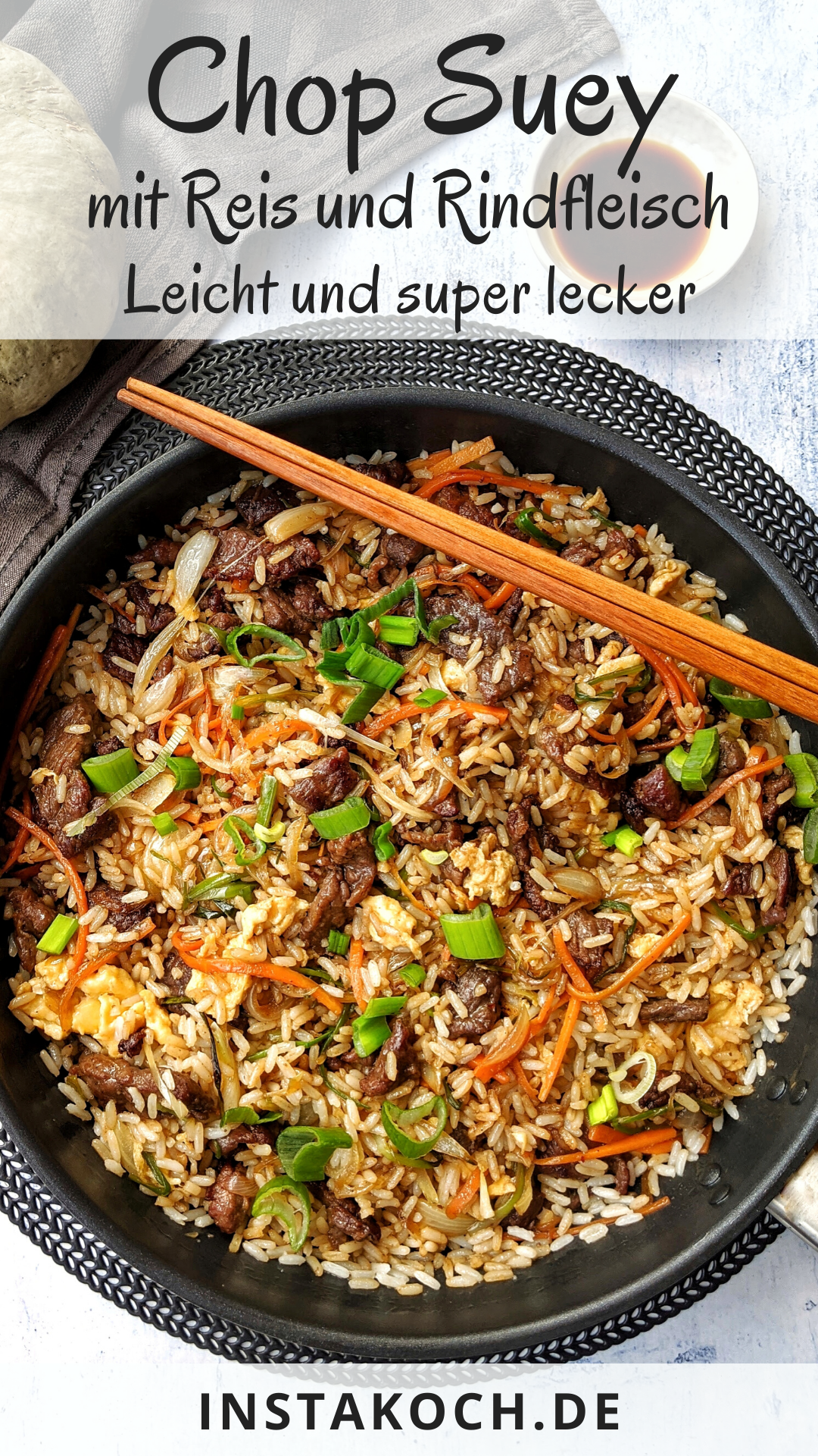 Photo of Chop Suey with Rice and Beef – Light and tasty – Click for a simple recipe