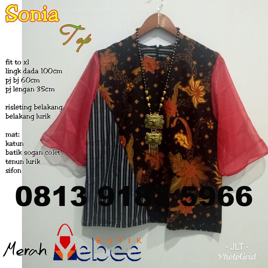 Desain Baju Batik Kerja Modern Blouse Kantor Wanita Terbaru