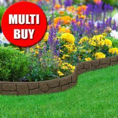 6m Recycled Rubber Flexible Lawn Edging  Border Stone  H8 5cm is part of Rubber lawn Edging -