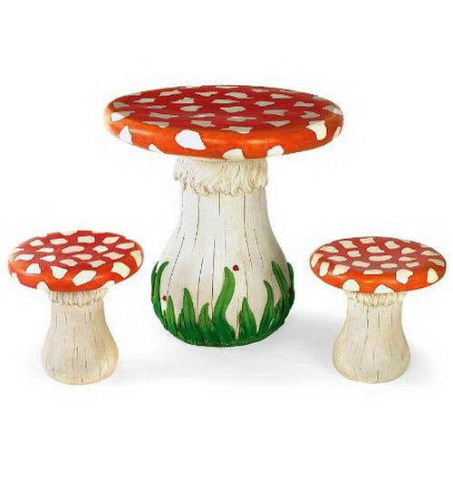 Toadstool Chairs: Mushroom Table And Chairs Stools For Kids Children
