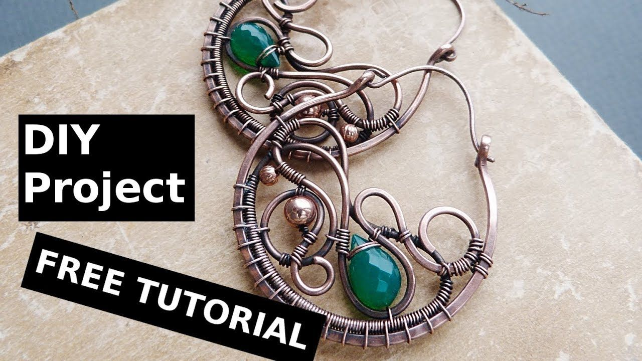 DIY project Wire earrings tutorial without soldering | Wire ...