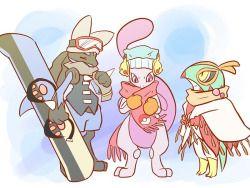Mewtwo, Lucario, Hawlucha