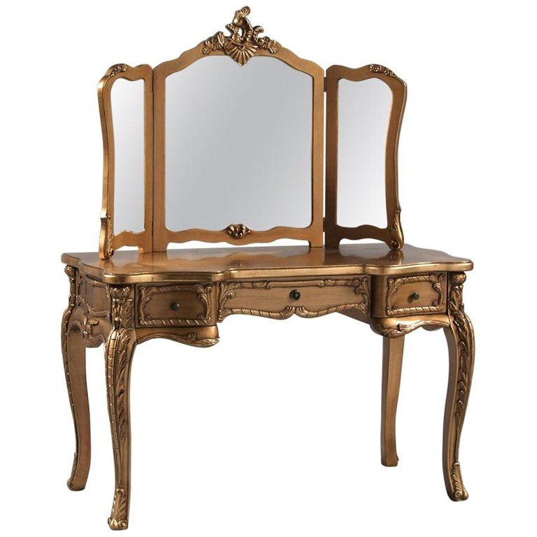 Elegant Gilt French Style Dressing Table With Mirror From A Unique Collection Of Antique French Style Dressing Tables Dressing Table Antique French Antiques