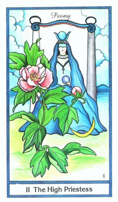 Tarotize: The High Priestess from the Herbal Tarot