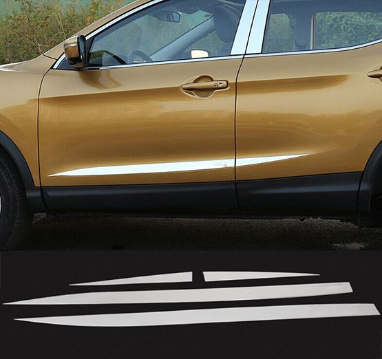 Styling Mouldings For Nissan Qashqai 2014 2015 2016 Abs Chrome Side Door Body Molding Moulding Trim