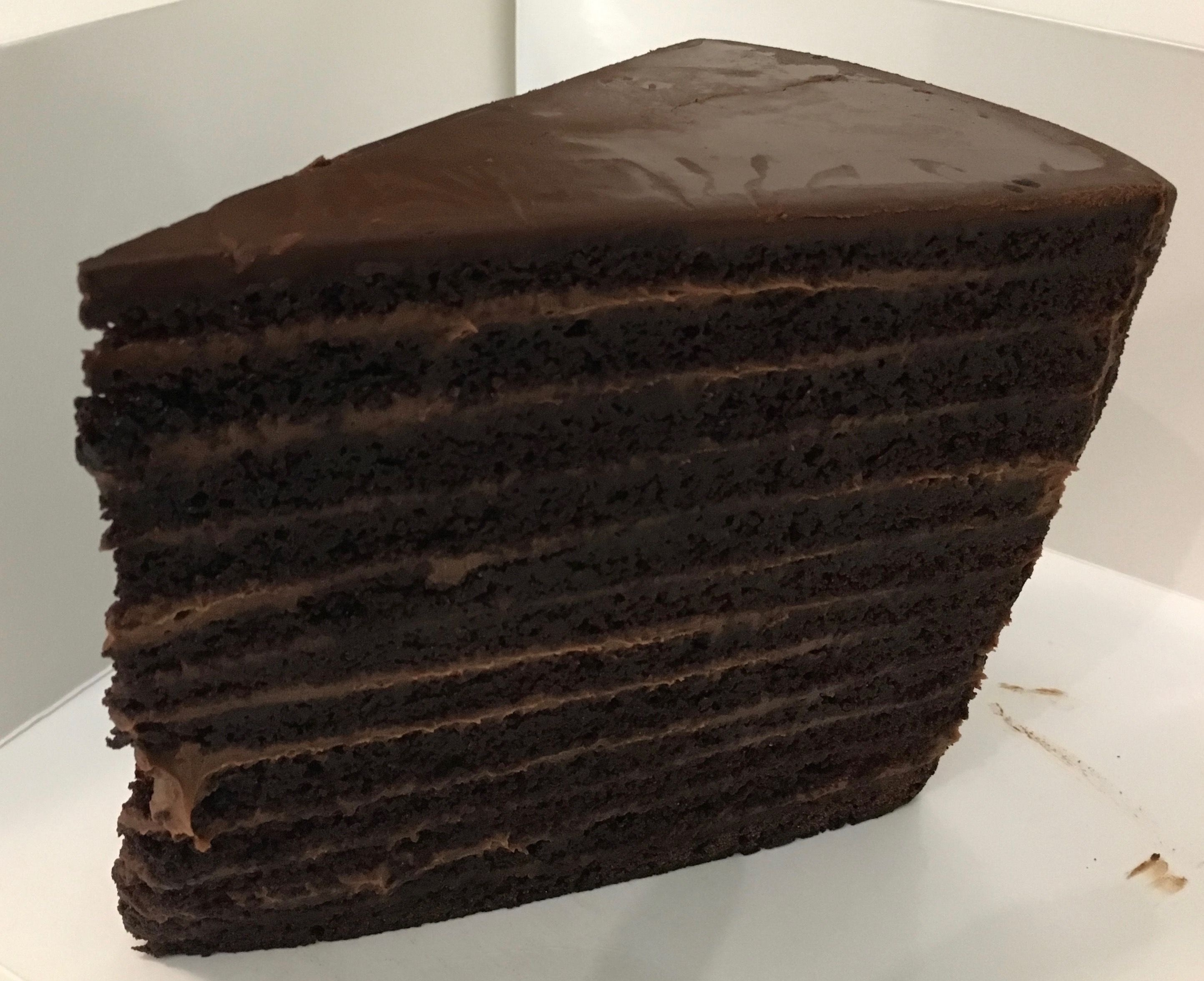 24 Layer Chocolate Cake From The Strip House Nyc Nyc Dessert