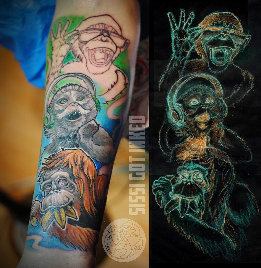 3 Monos Sabios Tatuajes three wise monkeysrosaroterpanda on deviantart