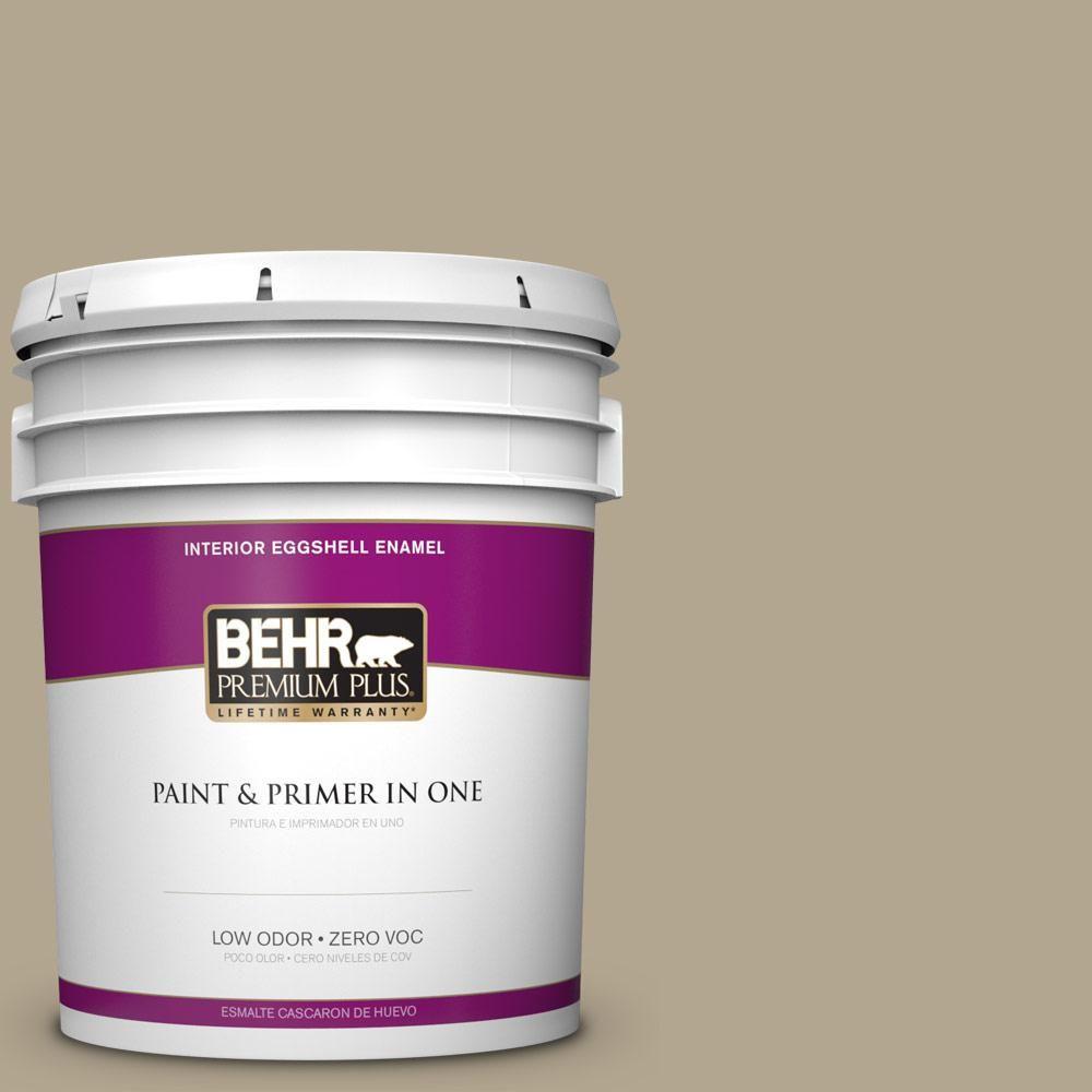 BEHR Premium Plus 5 gal. #PPU7-22 Safari Vest Zero VOC Eggshell Enamel Interior Paint