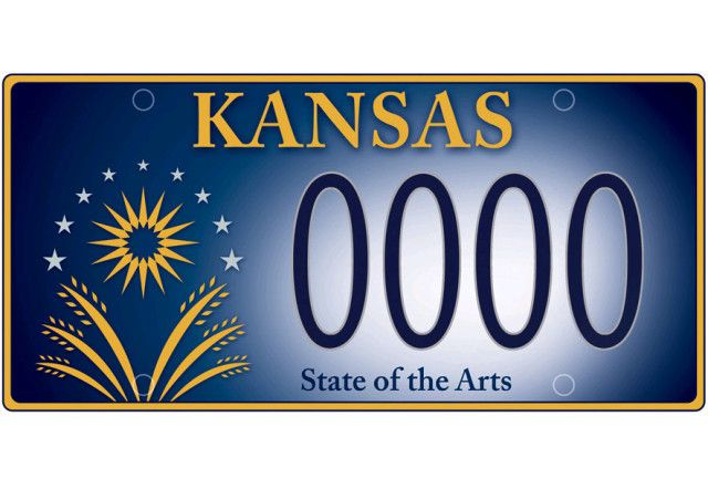ks arts license plate