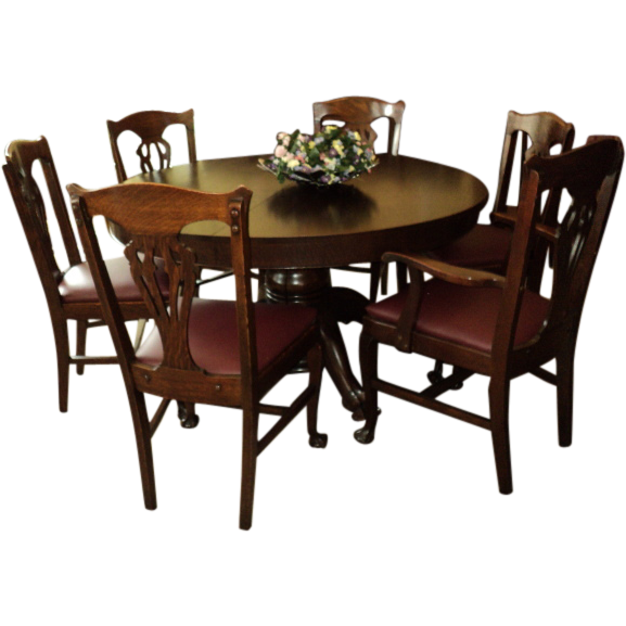 "Oak ""chippendale Style"" Dining Room Set Wround Table Price Gorgeous Chippendale Dining Room Set Review"