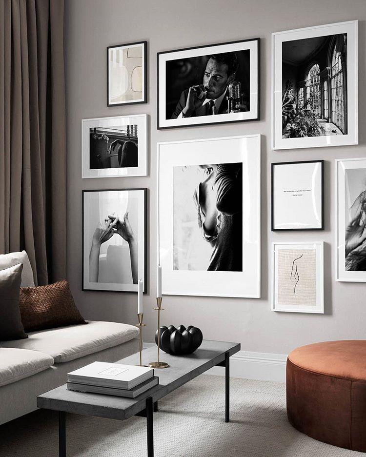 Keep It Classic We Love A Monochrome Gallery Wall Designs Beige Balance 30x40 Cm Gentleman Monochrome Gallery Wall Living Room Decor Room Decor