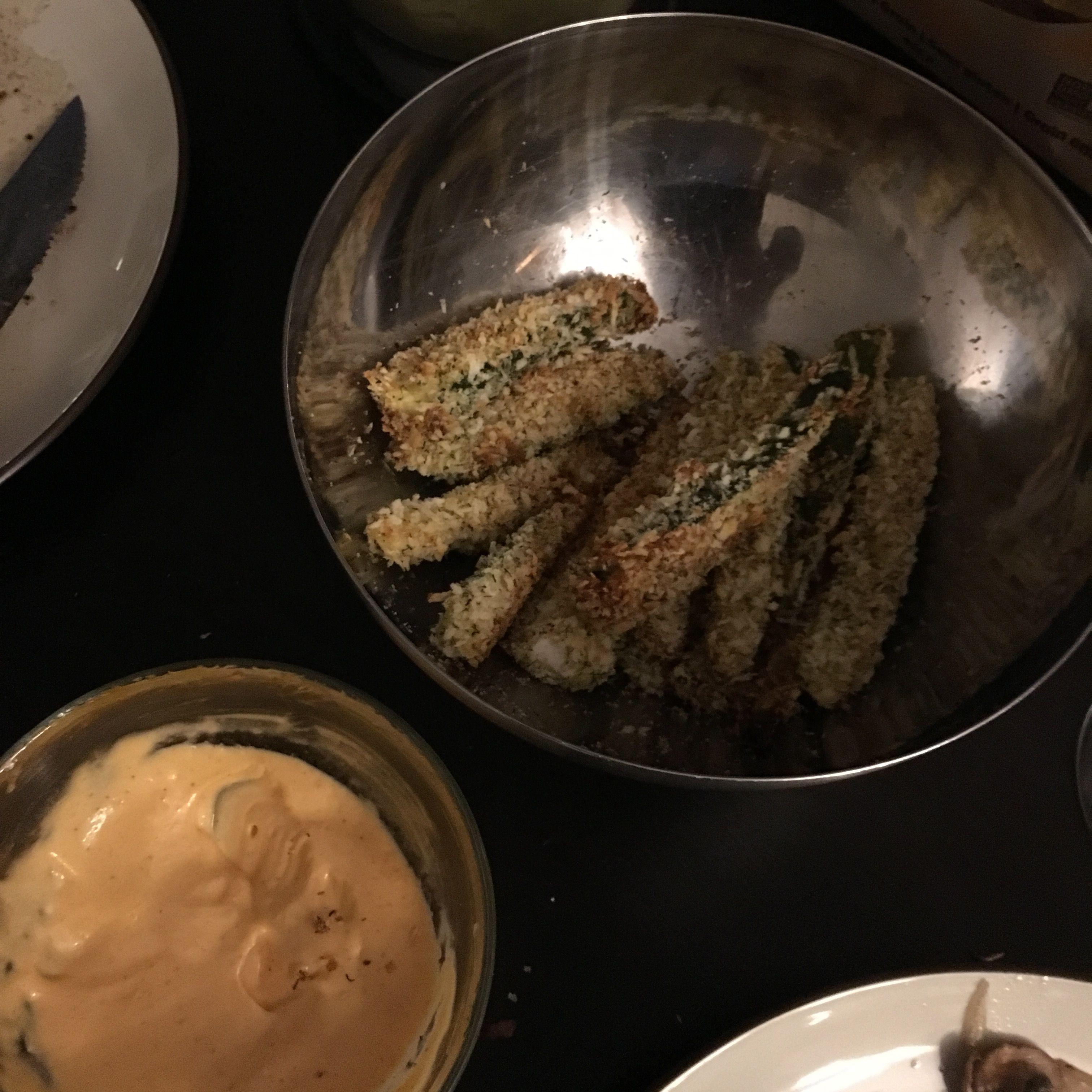 Breaded zucchini sticks