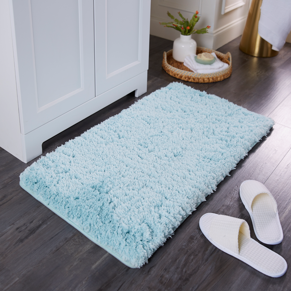 Extra Thick Softlux Charcoal Infused Memory Foam Bath Mat With