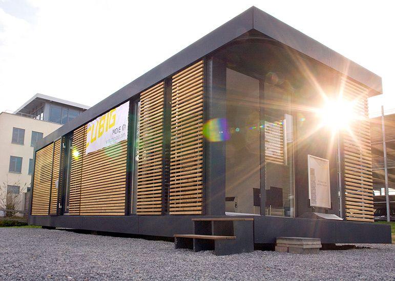 neues wohnen im cubig designhaus minihaus tiny house pinterest minihaus neuer und wohnen. Black Bedroom Furniture Sets. Home Design Ideas