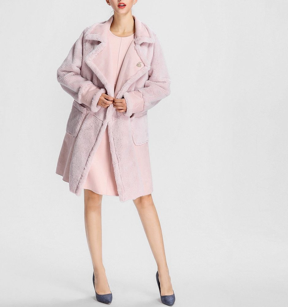 cheap for discount e38e2 1251f APART Mantel Oversize 40 Jacke Trenchcoat Wollmantel rosa ...