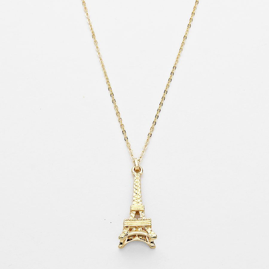 Gold eiffel tower pendant necklace pendants delicate jewelry and gold gold eiffel tower pendant necklace aloadofball Image collections