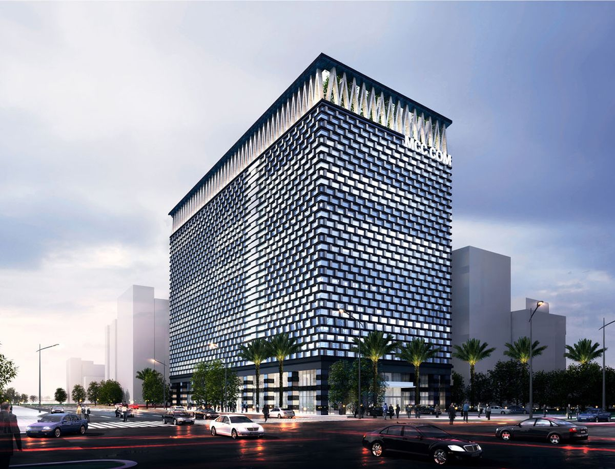 Downtown sanya office building hainan jufang urban for Contemporary office building design