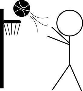 Basketball Clipart Image: Clip art Illustration of a Stick Figure