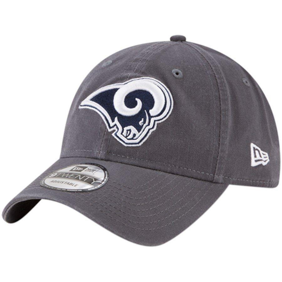 d79e4358fce Men s Los Angeles Rams New Era Graphite Core Classic 9TWENTY Adjustable Hat
