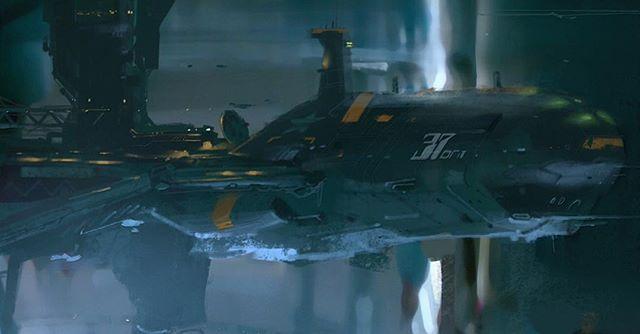 some kind of port.  #spaceship #spacecraft #vehicledesign #conceptart…