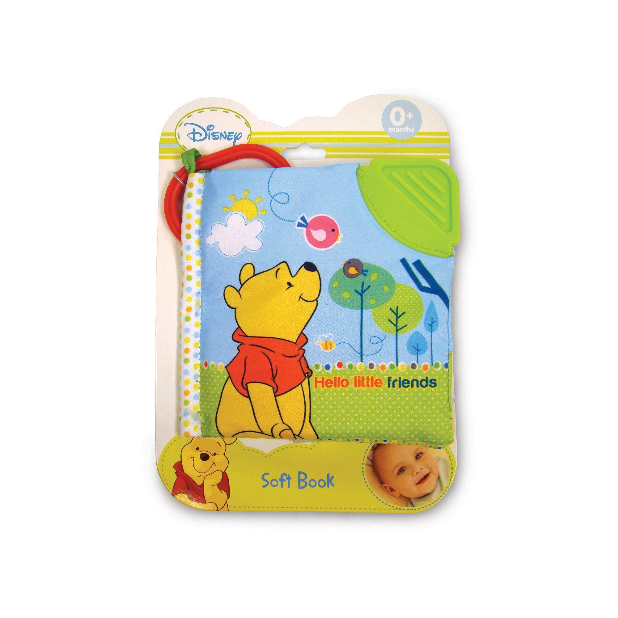 Disney Winnie the Pooh Hello Little Friends Soft Book by Kids Preferred, Multicolor
