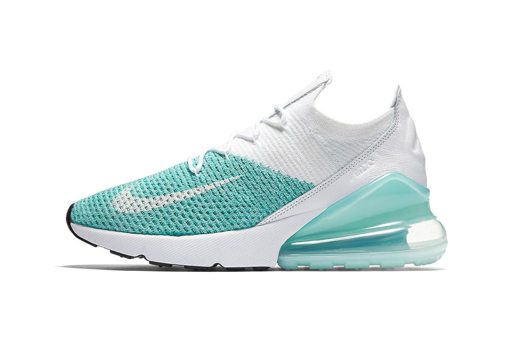 Nike's Air Max 270 Flyknit Is Outlined in Clean Mint in 2020