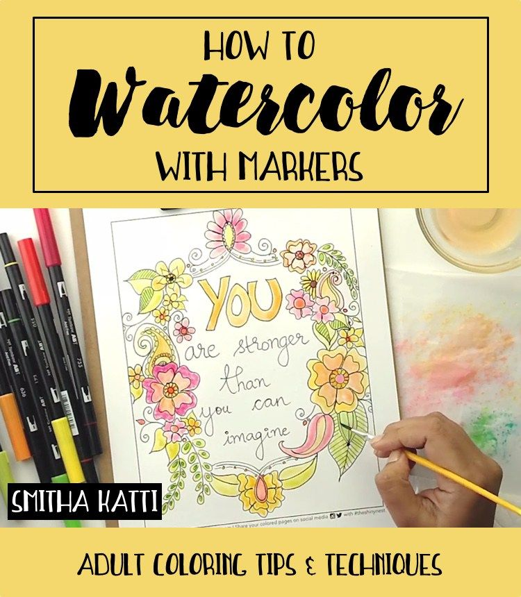 how to use watercolor pencils in coloring books