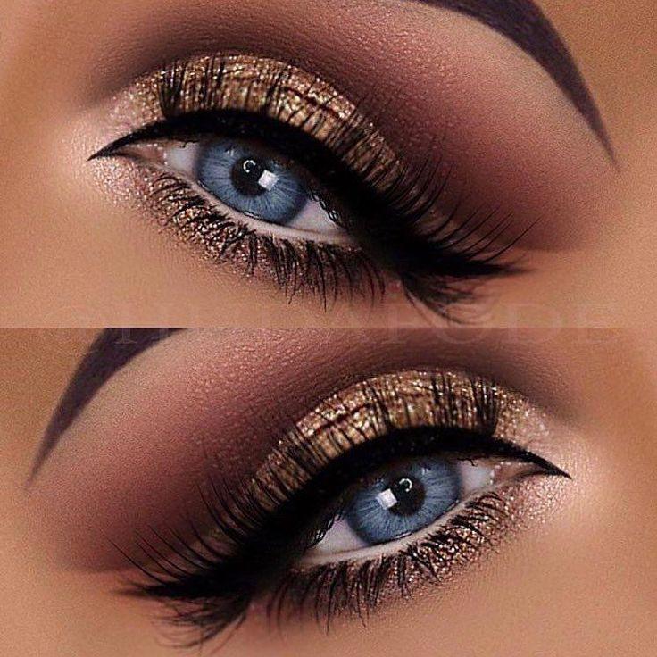 Photo of Blue Eye Makeup | Glitter eye make-up by Dr. Huda Fode. , , Pretty…
