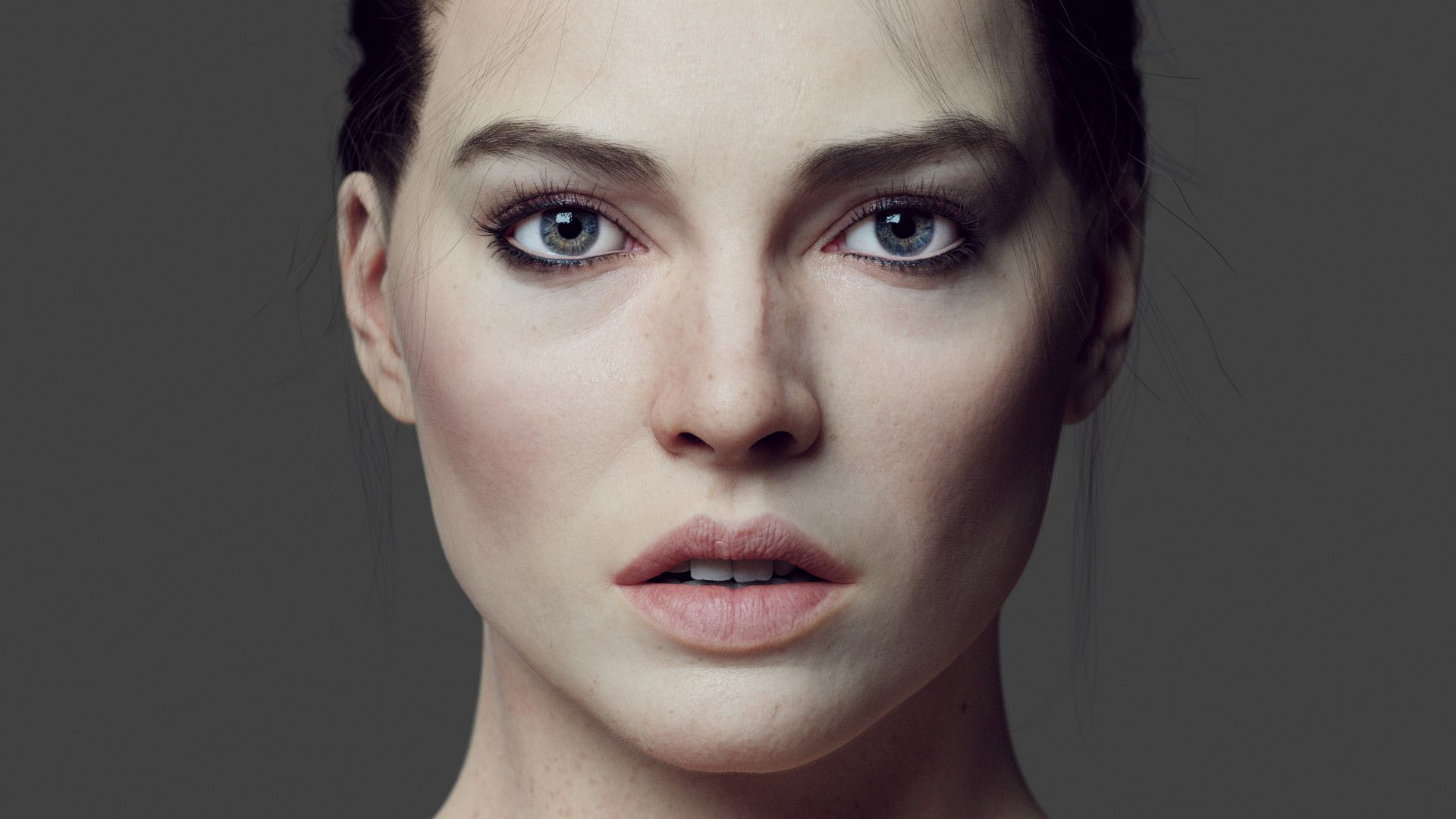 Cg Face Study Wip My Aim Was To Create A Photorealistic Cg Character Ready  For