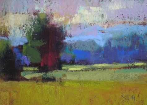 pastel landscape paintings | mini pastel paintings landscape abstractions painting by artist karen ...
