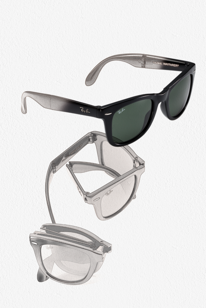 ce6e85724aee2 The iconic Ray-Ban Wayfarer is now foldable!  style  rayban  designer   iconic  handy  foldable