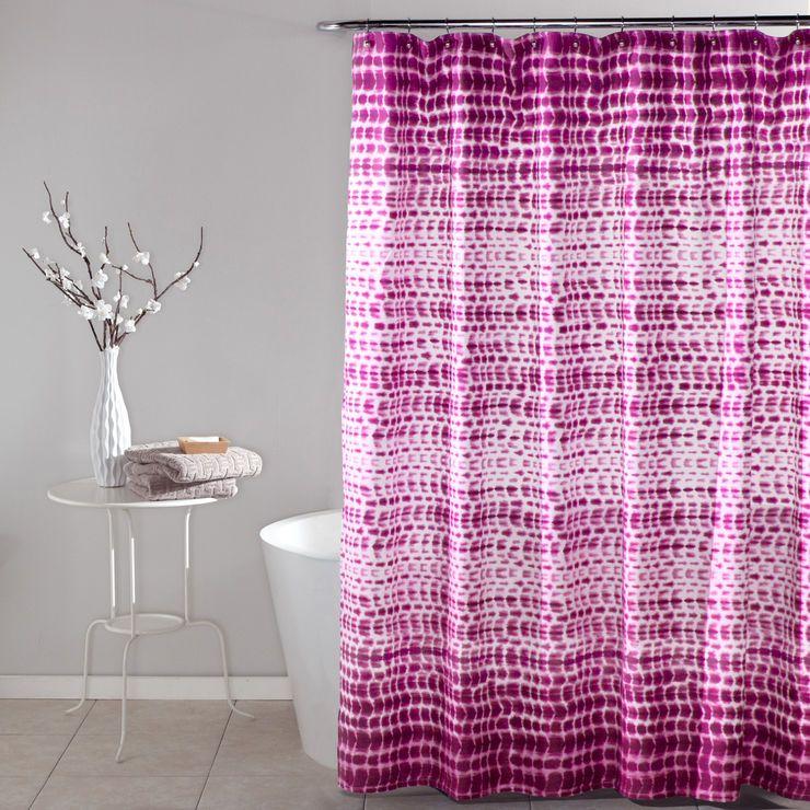 Pink Pebble Creek Shower Curtain Stylish Shower Curtain Shower