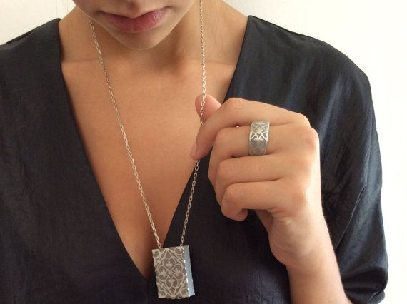 Hey, I found this really awesome Etsy listing at https://www.etsy.com/listing/192589109/square-silver-pendant-long-silver