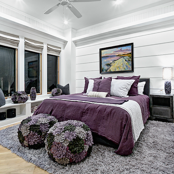 painted black beams with white tongue and groove | ... with tongue and groove accent wall and glossy white ceiling with