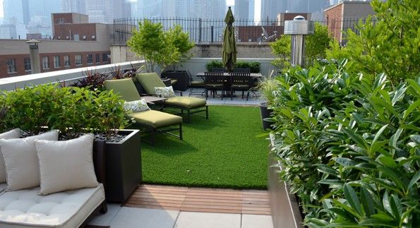 PROPERTY MAINTENANCE SERVICE GARDEN ON THE ROOF OF A PENTHOUSE