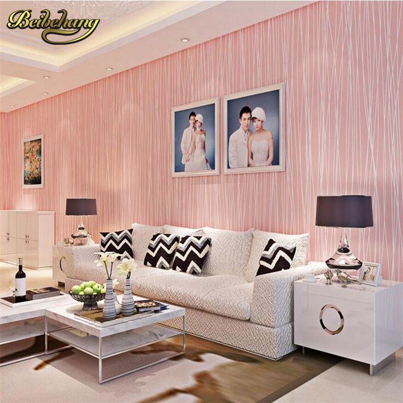 beibehang papel de parede. Modern wallpaper stripe non-woven wall ...