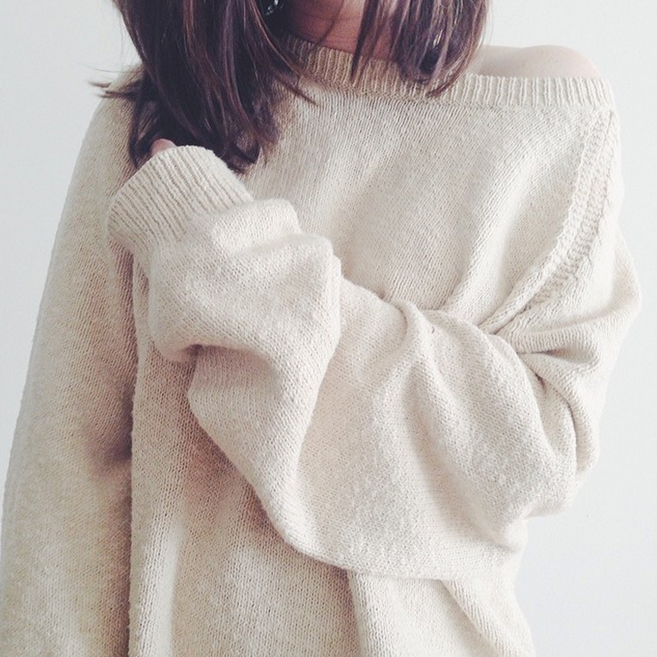 I just looooove oversized sweaters. they look so cozy..then I wear ...
