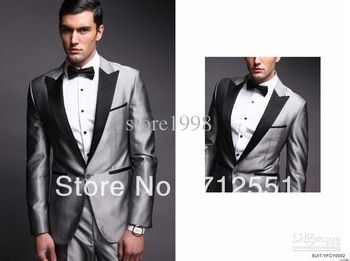 Best-New-Style-Groom-Tuxedos-Silver-Grey-Peak-Black-Lapel ...
