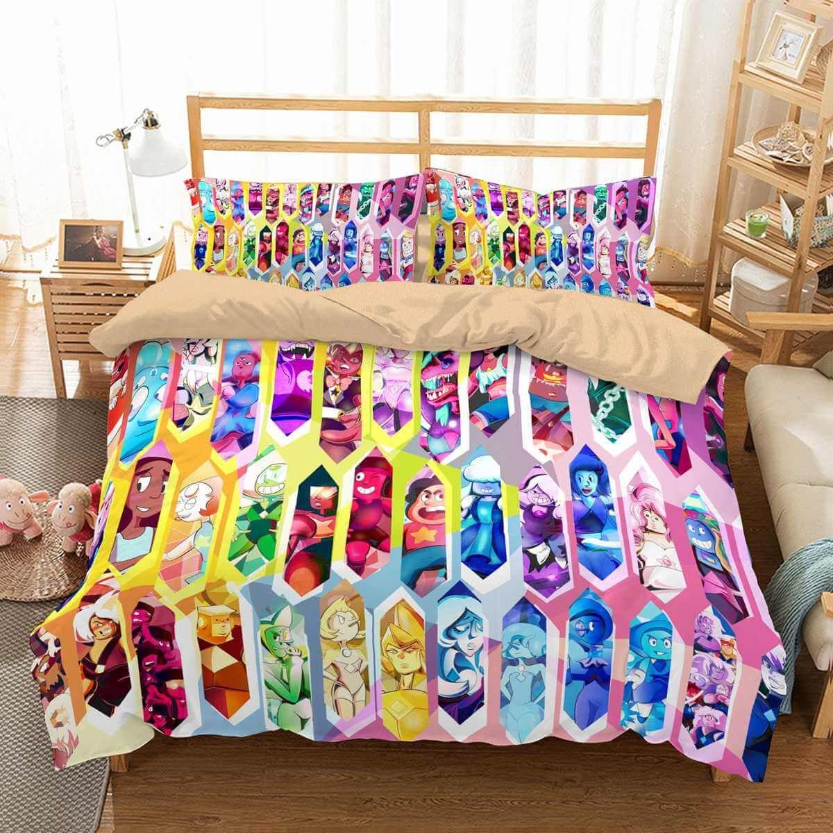 7d6d6cf26b61 3D Customize Steven Universe Bedding Set Duvet Cover Set Bedroom Set  Bedlinen 1)100% Microfiber,Soft and Comfortable. 2)Environmental  Dyeing,Never Lose ...