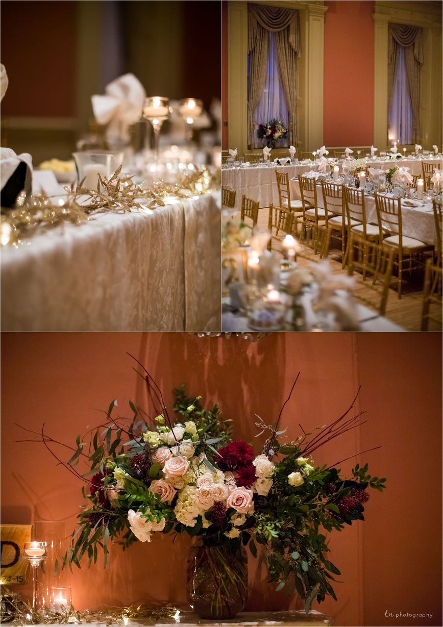 elegant ballroom winter wedding decor sarah david st lawrence