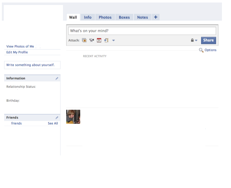 Blank Facebook Page Before The Time Line Social Media Info