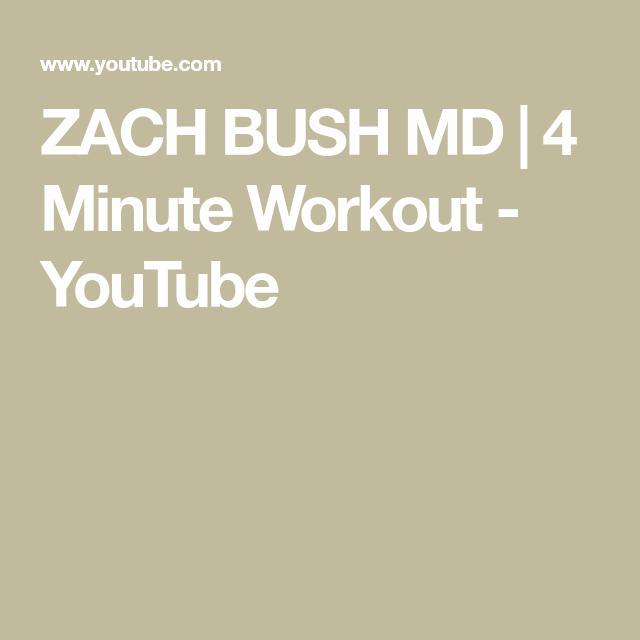 Zach Bush Md 4 Minute Workout Youtube 4 Minute Workout Workout Efficient Workout