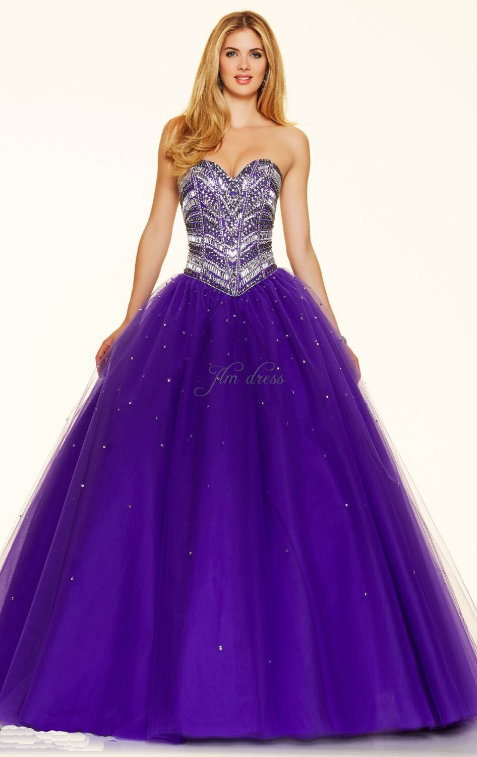 violet-ball-gown-strapless-floor-length-sleeveless-beading-criss ...