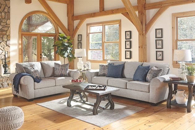 Belcampo Jute Gray Sofa With Loveseat And Cocktail Table Ashley Furniture Living Room Furniture Ashley Furniture