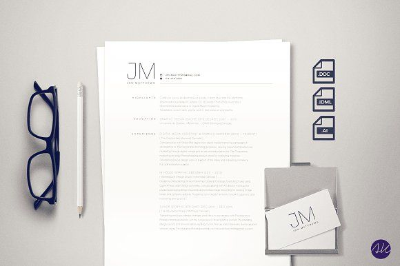 Minimalist Resume Template By Angelene Ke On Creativemarket